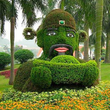 五色草 五色草造型 立体花坛 景观绿雕 户外大型绿雕园艺