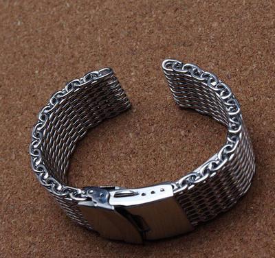 不锈钢男女编织手表配件表带厂家批发报价,欢迎咨询洽谈合作! 不锈钢编织网带