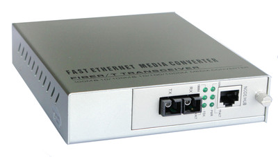 供应网管式单纤、双纤10/100M光纤收发器