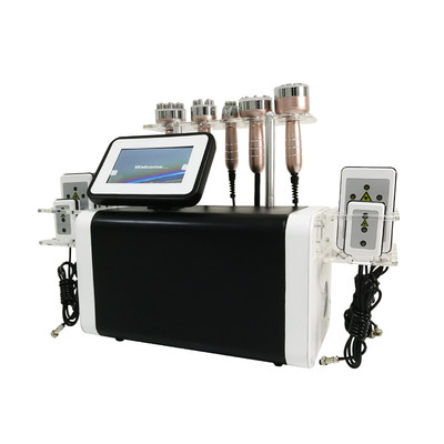 射频仪美容仪器体雕仪6 in 1 lipo cavitation rf slimming machine/ laser