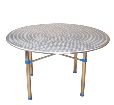 简约现代1.2m江湖产品不锈钢圆台餐桌餐桌椅组合快餐桌伸缩餐