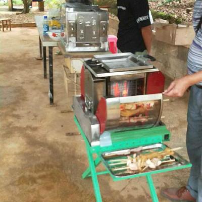 快速 自动无烟烧烤机 无烟木炭多功能自动烧烤机 多功能烧烤机 全禾
