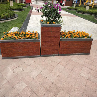 批发定制铝合金花箱 景观落地式 户外道路街道护栏铝合金组合花箱