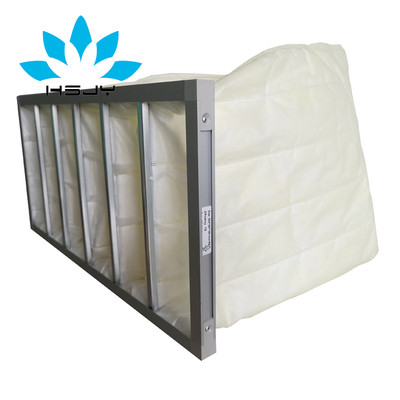 HSJY/华思净宇 定制F8黄色中效袋式过滤器 中央空调袋式过滤器 空调箱滤网 防尘布袋 铝框或镀锌框可选中效过滤袋