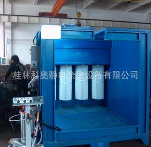 3个滤芯单工位喷粉房喷粉柜安装